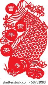 fish- chinese traditional papercut