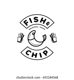 Fish and chips logo images stock photos vectors for Fish and chip shop menu template