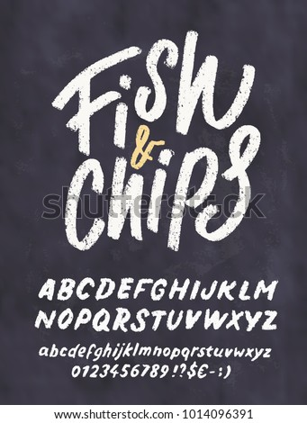 fish chips chalkboard menu template stock vector royalty free