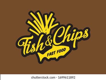 Fish & chips logo design