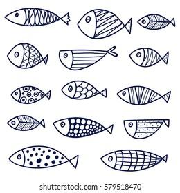Fish. Coloring.