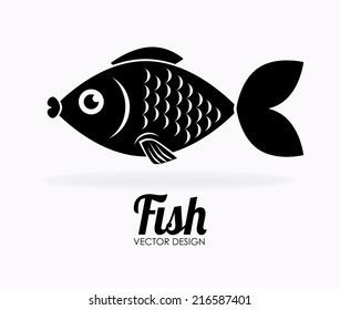 Fish design over white background, vector illustration