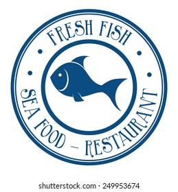 Fish design over white background, vector illustration.