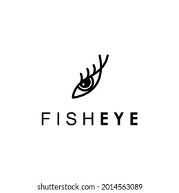 fish eye with long lash beauty and fashion photography logo design