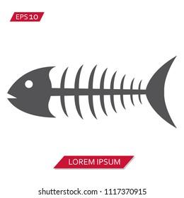 fish fishbone vector icon symbol
