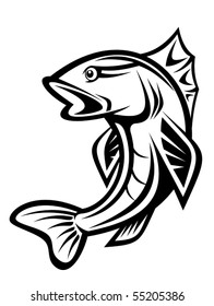 Fish as a fishing symbol. Jpeg version also available in gallery