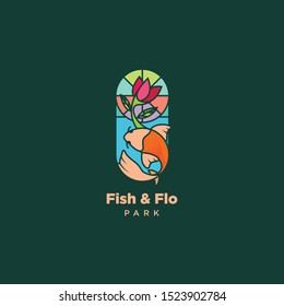 Fish and Flo Colorful Logo