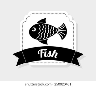 fish icon design, vector illustration eps10 graphic