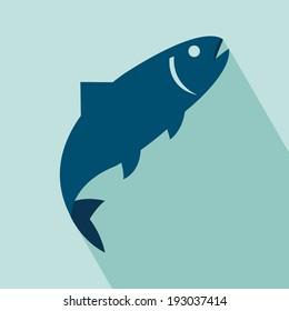 Fish Icon. EPS 10 vector illustration for design. Elements for design.
