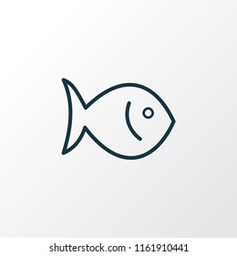 Fish icon line symbol. Premium quality isolated seafood element in trendy style.