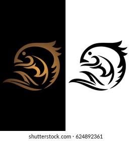 fish icon to logo animal