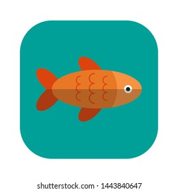 Fish icon. Marine life. Vector illustration.