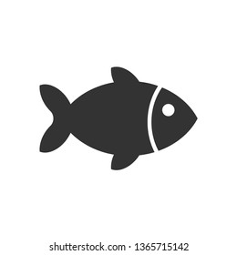Fish Icon. SEa Food or Farm Element Illustration As A Simple Vector Sign & Trendy Symbol for Design, Websites, Presentation or Application.
