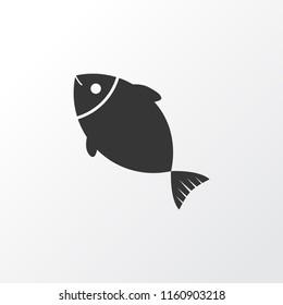 Fish icon symbol. Premium quality isolated tuna element in trendy style.