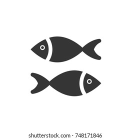 fish icon vector. fish icon glyph style design