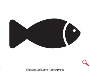 fish icon vector illustration eps10
