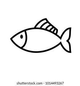 Fish Icon Vector Illustration High Resolution