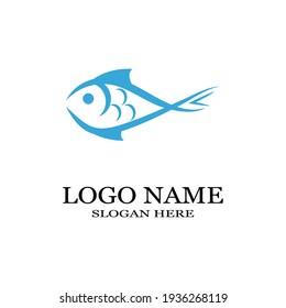Fish Icon vector illustration logo template design