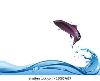 fish jump from water to air