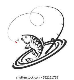 Fish jumping for bait and fishing rod design