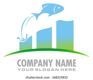 fish jumping out of water chart diagram image icon