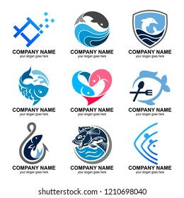 fish logo collection