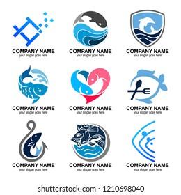 fish logo collection