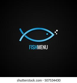 Fish Logo Design Dorado Background