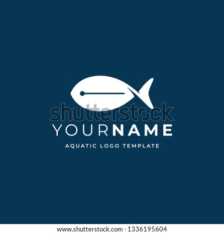 Fish Logo Design Vector Template Seafood Stock Vector ...