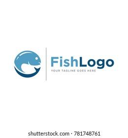fish logo icon vector template