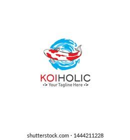 fish logo, koi - vector