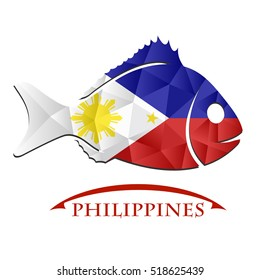 fish logo made from the flag of Philippines.