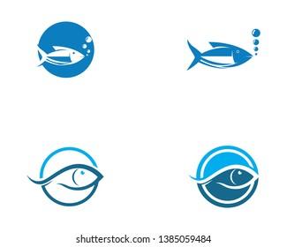 Fish logo template. Creative vector symbol