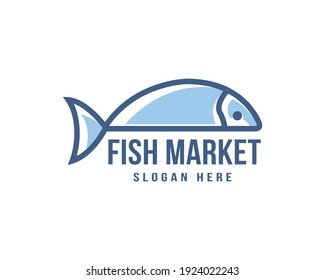 Fish logo template suitable for businesses and product names. This stylish logo design could be used for different purposes for a company, product, service or for all your ideas.