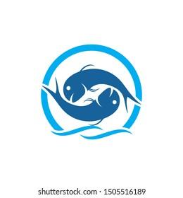 Fish Logo vector Template design