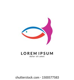 Fish logo vector template, suitable for fishing, restaurant seafood, market shop, business store, aquatic mascot and environment icon