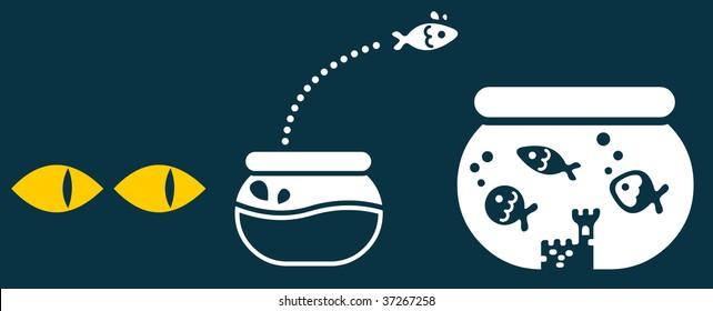 A fish move to a bigger bowl to escape dangerous predators