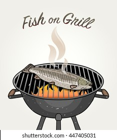 Fish on Grill - Grilled Trout