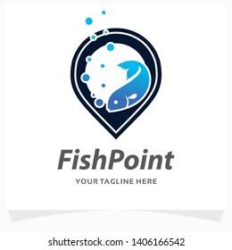Fish Point Logo Design Template