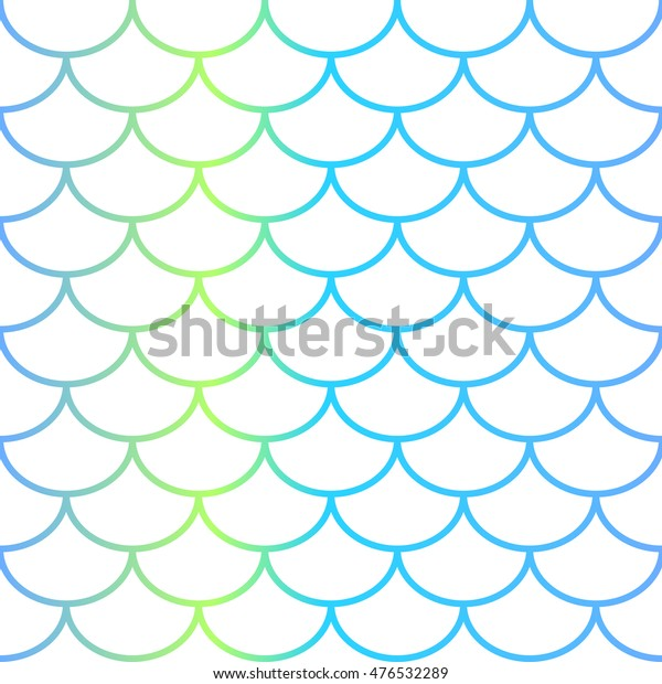 Fish scale vector seamless pattern on white background. Fish skin bordered. Vector tile. Fishscale surface. Koi illustration. Natural background for web design, wedding invitations, mermaid theme