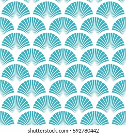 Fish scales seamless vector pattern.