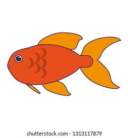 Fish sea animal cartoon