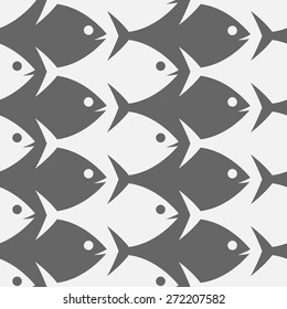Fish seamless pattern. Escher style.