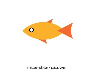 Fish shape illustration sea creature