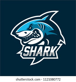 fish shark esport gaming mascot logo template