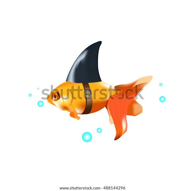 Fish Shark Fin Stock Vector (Royalty Free) 488144296