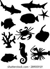 Fish silhouettes.