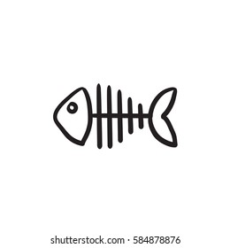 fish skeleton images stock photos vectors shutterstock rh shutterstock com Fish Skeleton Logo fish skeleton cartoon drawings