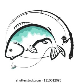 Fish and spinning with bait design