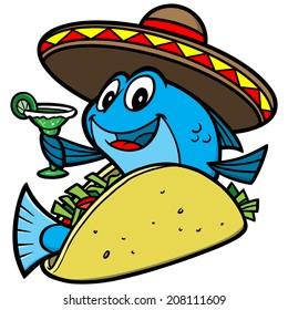 Fish Taco Cartoon